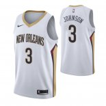 Maillot New Orleans Pelicans Nike NO.3 Stanley Johnson Blanc Association