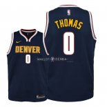 Maillot Enfants Denver Nuggets NO.0 Isaiah Thomas Marine Icon 2018-19
