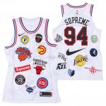 Maillot Collaboration Maillot Basket-ball Supreme x Nike #94 Logo Blanc