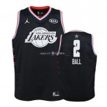 Maillot Enfants 2019 All Star NO.2 Lonzo Ball Noir