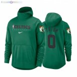 Hoodies Boston Celtics NO.0 Jayson Tatum Vert