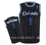 Maillot Orlando Magic No.1 Anfernee Hardaway Noir