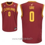 Maillot Cleveland Cavaliers No.0 Kevin Love Rouge