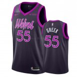 Maillot Minnesota Timberwolves Nike NO.55 Mitch Creek Pourpre Ville 2018-19