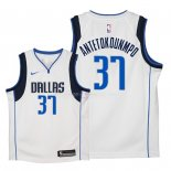 Maillot Enfants Dallas Mavericks NO.37 Kostas Antetokounmpo Blanc Association 2018