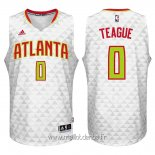 Maillot Atlanta Hawks No.0 Jeff Teague Blanc