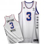 Maillot 2015 All Star No.3 Dwyane Wade Blanc