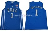 Maillot NCAA Duke NO.1 Zion Williamson Bleu