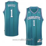 Maillot Charlotte Hornets No.1 Tyrone Curtis Bogues Vert