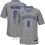Maillot Brooklyn Nets Manche Courte No.8 Deron Michael Williams Gris