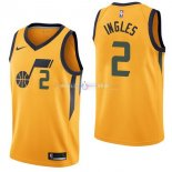Maillot Utah Jazz Nike NO.2 Joe Ingles Jaune Statement