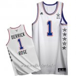 Maillot 2015 All Star No.1 Derrick Rose Blanc