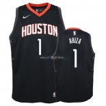 Maillot Enfants Houston Rockets NO.1 Trevor Ariza Noir Statement 2018