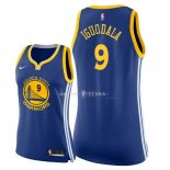 Maillot Femme Golden State Warriors NO.9 Andre Iguodala Bleu Icon 2018