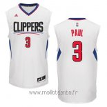 Maillot L.A.Clippers No.3 Chris Paul Blanc