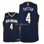Maillot Enfants New Orleans Pelicans NO.4 Elfrid Payton Marine Icon 2018