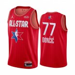Maillot 2020 All Star NO.77 Luck Doncic Rouge