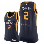Maillot Femme Utah Jazz NO.2 Joe Ingles Marine Icon 2018