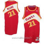 Maillot Atlanta Hawks No.21 Dominique Wilkins Rouge