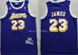 Maillot Los Angeles Lakers NO.23 Lebron James Retro Pourpre
