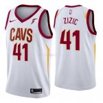 Maillot Cleveland Cavaliers Nike NO.41 Ante Zizic Blanc 2018