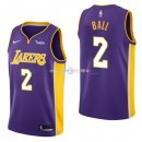 Maillot Enfants L.A.Lakers No.2 Lonzo Ball Pourpre 2017/2018