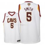 Maillot Enfants Cleveland Cavaliers Finales Champions 2018 NO.5 JR. Smith Blanc Association Patch