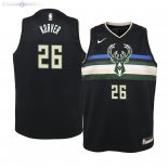 Maillot Enfants Milwaukee Bucks NO.26 Kyle Korver Noir Statement 2019/2020