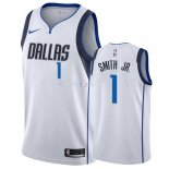 Maillot Dallas Mavericks Nike NO.1 Dennis Smith Jr Blanc Association 2018-19