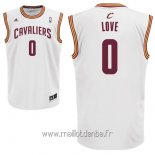 Maillot Cleveland Cavaliers No.0 Kevin Love Blanc