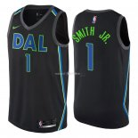 Maillot Dallas Mavericks Nike NO.1 Dennis Smith Jr Nike Noir Ville 2018