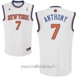 Maillot New York Knicks No.7 Carmelo Anthony Blanc