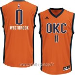 Maillot Oklahoma City Thunder No.0 Russell Westbrook Orange