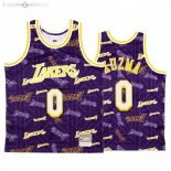 Maillot NBA L.A. Lakers Tear Up Pack NO.0 Kyle Kuzma Pourpre Hardwood Classics