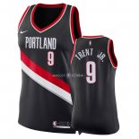 Maillot Femme Portland Trail Blazers NO.9 Gary Trent Jr Noir Icon 2018