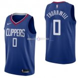 Maillot Los Angeles Clippers Nike NO.0 Sindarius Thornwell Bleu Icon