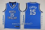 Maillot NCAA Enfants North Carolina No.15 Vince Carter Bleu