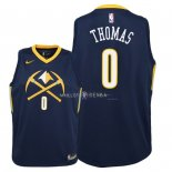 Maillot Enfants Denver Nuggets NO.0 Isaiah Thomas Nike Marine Ville 2018