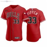 Maillot NBA Bulls x MLB Manche Courte NO.33 Scottie Pippen Rouge 2020