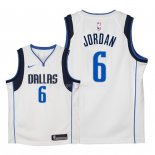 Maillot Enfants Dallas Mavericks NO.6 DeAndre Jordan Blanc Association 2018