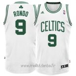 Maillot Boston Celtics No.9 Rajon Rondo Blanc