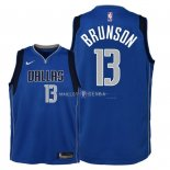 Maillot Enfants Dallas Mavericks NO.13 Jalen Brunson Bleu Icon 2018