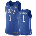 Maillot NCAA Duke NO.1 Zion Williamson Bleu 2019
