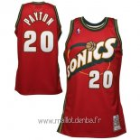 Maillot Seattle Supersonics No.20 Gary Payton Retro Rouge