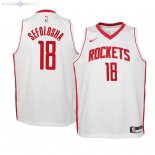 Maillot Enfants Houston Rockets NO.18 Thabo Sefolosha Blanc Association 2019/2020