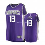 Maillot Enfants Sacramento Kings NO.13 Alec Burks Pourpre Icon