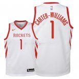 Maillot Enfants Houston Rockets NO.1 Michael Carter Williams Blanc Association 2018