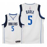 Maillot Enfants Dallas Mavericks NO.5 J.J. Barea Blanc Association 2018