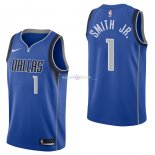 Maillot Dallas Mavericks Nike NO.1 Dennis Smith Jr Bleu Icon