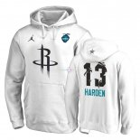 Hoodies 2019 All Star Houston Rockets NO.13 James Harden Blanc
